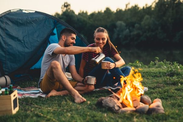 couples are camping in whistler